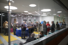 Donors and their families celebrated in the building's many informal spaces designed to encourage collaboration and interaction between faculty, students and staff.