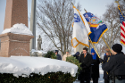 The UB Police Honor Guard presents the colors at the Fillmore gravesite.
