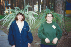 Molly Anderson (left) on her first trip to Russia in 1997 at Center Sodruzhestvo's international economics camp in Ryazan.