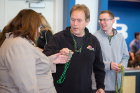 Tuesday was Mardi Gras, and staff from Student Life handed out traditional Mardi Gras beads in the Student Union.