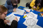 Love and Support Day in the Student Union included some relaxing activities, like coloring.