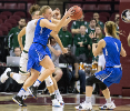 Buffalo guard Katherine Ups steals the ball against South Florida in the 2nd half of round one of the NCAA basketball tournament in Tallahassee, FL March 17, 2018 The Buffalo Bulls defeated the South Florida Bulls 102-79.