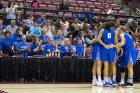 The Buffalo Bulls hold a conference in front of their fans in the 2nd half of their game against South Florida in round one of the NCAA basketball tournament in Tallahassee, FL March 17, 2018 The Buffalo Bulls defeated the South Florida Bulls 102-79.