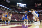 Buffalo guard Cierra Dillard shoots free throws in the 2nd half of their game against South Florida in round one of the NCAA basketball tournament in Tallahassee, FL March 17, 2018 The Buffalo Bulls defeated the South Florida Bulls 102-79.