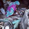 Women work in the recycling facilities, but generally not the repair shops.
