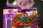 Lavender reception items: rainbow tassle which may be worn during commencement, lavender UB lapel pin, lavender rose and a small gift for each graduate.