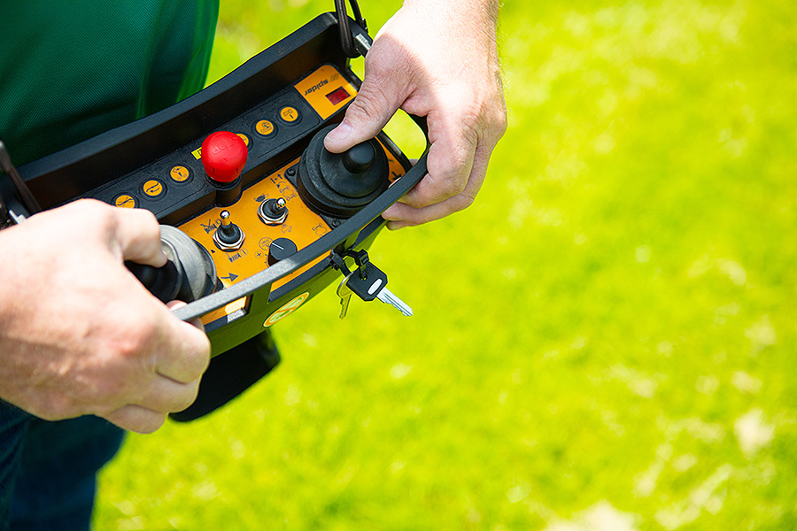 Remote Control Lawn Mower Eyed For Improved Worker Safety