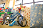 Some lucky child is getting a bike this Christmas.