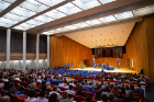 The University Honors College held its recognition ceremony on May 17 in Lippes Concert Hall in Slee Hall on the North Campus. Photo: Douglas Levere