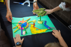 After they created their masterpieces, kids could bring them to a table to be photographed. The photos will be shared with the MVVA team and may inspire their playground design. In fact, MVVA is incorporating a child's idea into its design for a park in another city.