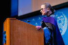 Justice Ruth Bader Ginsburg is the first U.S. Supreme Court justice to visit UB. Photo: Douglas Levere