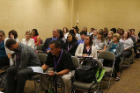 Conference participants filled the room to hear Rina Das Eiden's presentation