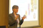 "RIA's Kathleen E. Miller, PhD, discusses her research during the ""Bullying and Substance Use Among Adolescents"" workshop"