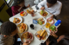 Gathering around a table in our residential dining centers is a long-standing tradition at the heart of a college experience that creates a home-away-from-home for our students.