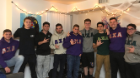 Members of Lambda Chi Alpha at a brotherhood event, getting to know each other.