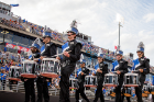 UB Marching Band's drumline marches with pride.