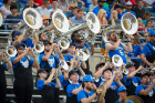 UB Pep Band: Alumni are always welcome to join us at the games as we hype up the crowd and lead cheers throughout the stadium.
