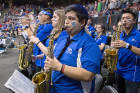 UB Pep Band performing at the Men's NCAA Tournament in Boise, Idaho