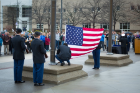 The annual flag raising ceremony pays tribute to our military men and women each Veterans Day.