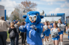Victor E. Bull leads the charge during Homecoming and Family Weekend.