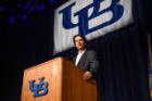 James Balog (Global Expert on Climate Change and Founder of the Extreme Ice Survey) at the UB Alumni Arena on April 12, 2018