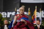 The Dalai Lama (The Head of state in exile of Tibet and spiritual leader of the Tibetan people) at the UB Stadium on September 19, 2006