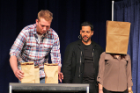 David Blaine (Endurance Artist and World Renowned Magician) at the UB Alumni Arena on April 26, 2014