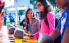 The Friday of Welcome Weekend provides students the opportunity to enjoy rides and games during an on-campus carnival.