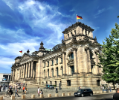 Landmarks included the Reichstag/Bundestag building in Berlin, Germany which serves as the national Parliament.