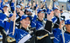 The UB Marching Band shows off its pride and spirit at the UB vs. Army football game.