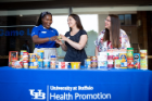 UB launched its innovative virtual food pantry program, Blue Table, to combat food insecurity issues amongst students.