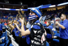 The UB Pep Band supported the men's and women's basketball teams in the NCAA tournament in March.