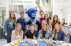 Graduating students toasted their success at Senior Brunch, just prior to UB commencement ceremonies in May.