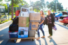 Students and parents shop and stock up for move-in weekend