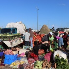 The focus of Brice's research on the river border between Haiti and the Dominican Republic is the Dajabon Market.