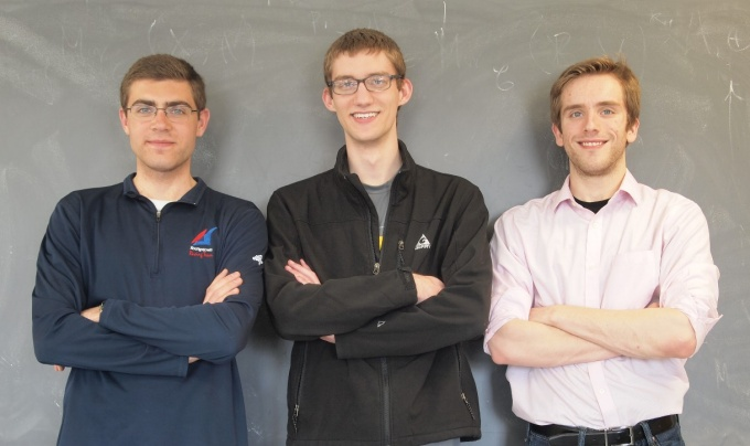 UB Undergraduate Students, Andrew Harris, Dante Iozzo, and Nigel Michki.