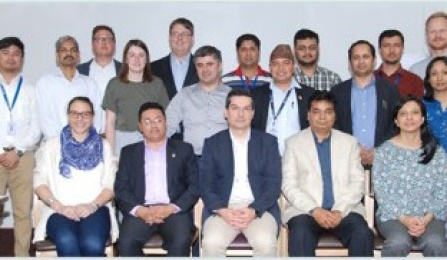 group of engineers and researchers at Nepal