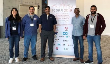 A group of faculty and students from UB CUBS at the ICDAR conference.