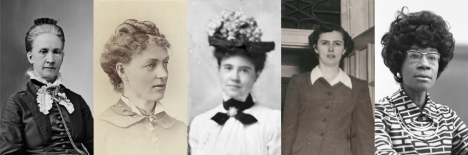 Belva B. Lockwood, Kate Stoneman, Helen Z.M. Rodgers, Charlotte Smallwood-Cook and Shirley St. Hill Chisholm.