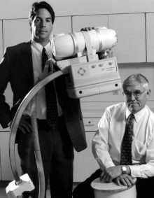 Robert Lifeso and Michael Landi with the dual radiation targeting system