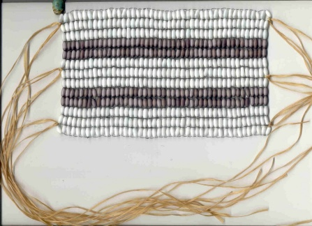 Photo of two-row wampum belt.
