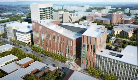 Image of the design for the new UB School of Medicine and Biomedical Sciences.