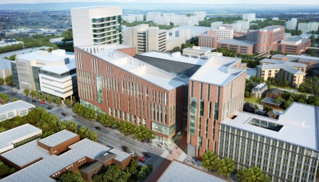 Rendering of the design for the new UB School of Medicine and Biomedical Sciences.