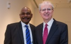 Makau Mutua, dean of the UB Law School (left) and New York State's chief judge, Hon. Jonathan Lippman.