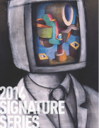 2014 Signature Series program cover with Doug Fitch work