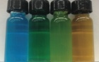 "Picture of colorful ""nanojuice"" in vials"