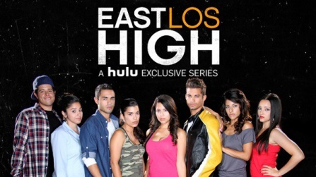 members of the cast of the Hulu series East Los High.