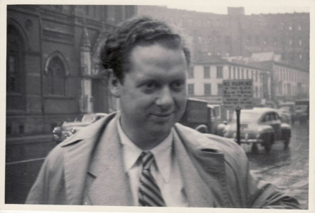 The poet Dylan Thomas in New York City in 1953.