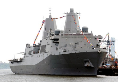 US Navy destroyer.