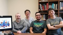 Photo of CSUN researchers Jorge Botana, Maosheng Miao, Steven Valdez and Zhen Liu.